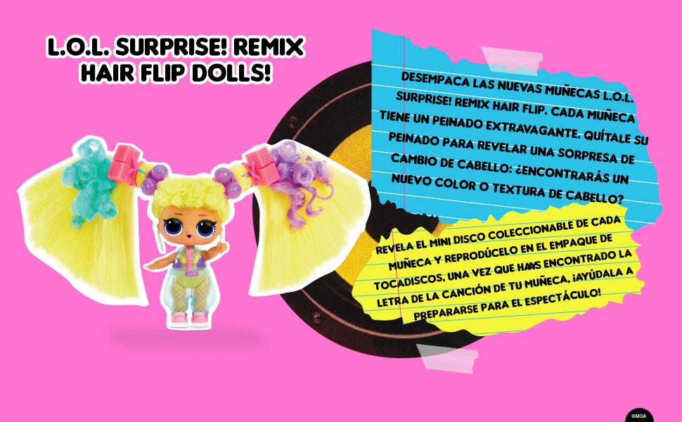 LOL Surprise Remix Hair Flip MGA