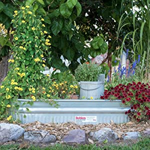 Corrosion Resistant, Heavy Zinc Coating Assures Long Life, And Makes For A  Perfect Garden Planter. Behlen Country Galvanized Stock Tanks ...