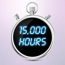 15,000 Hour Lamp Life
