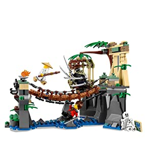 Ninjago Movie, LEGO, building, ninja, creative play, interactive, role play, rope bridge, minifigure