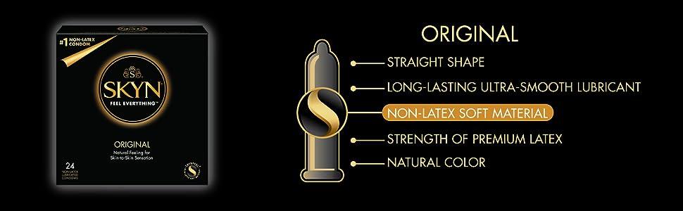 skyn original, ultra lubricant, natural color, strength of premium latex