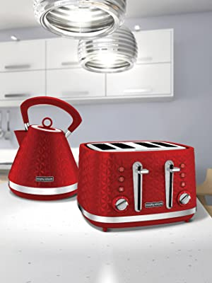 Morphy Richards Red Vector 4 Slice Toaster 248133
