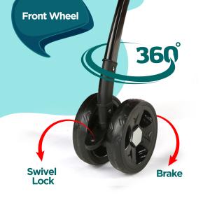 360 degree Front Wheel with Swivel Lock & Brake
