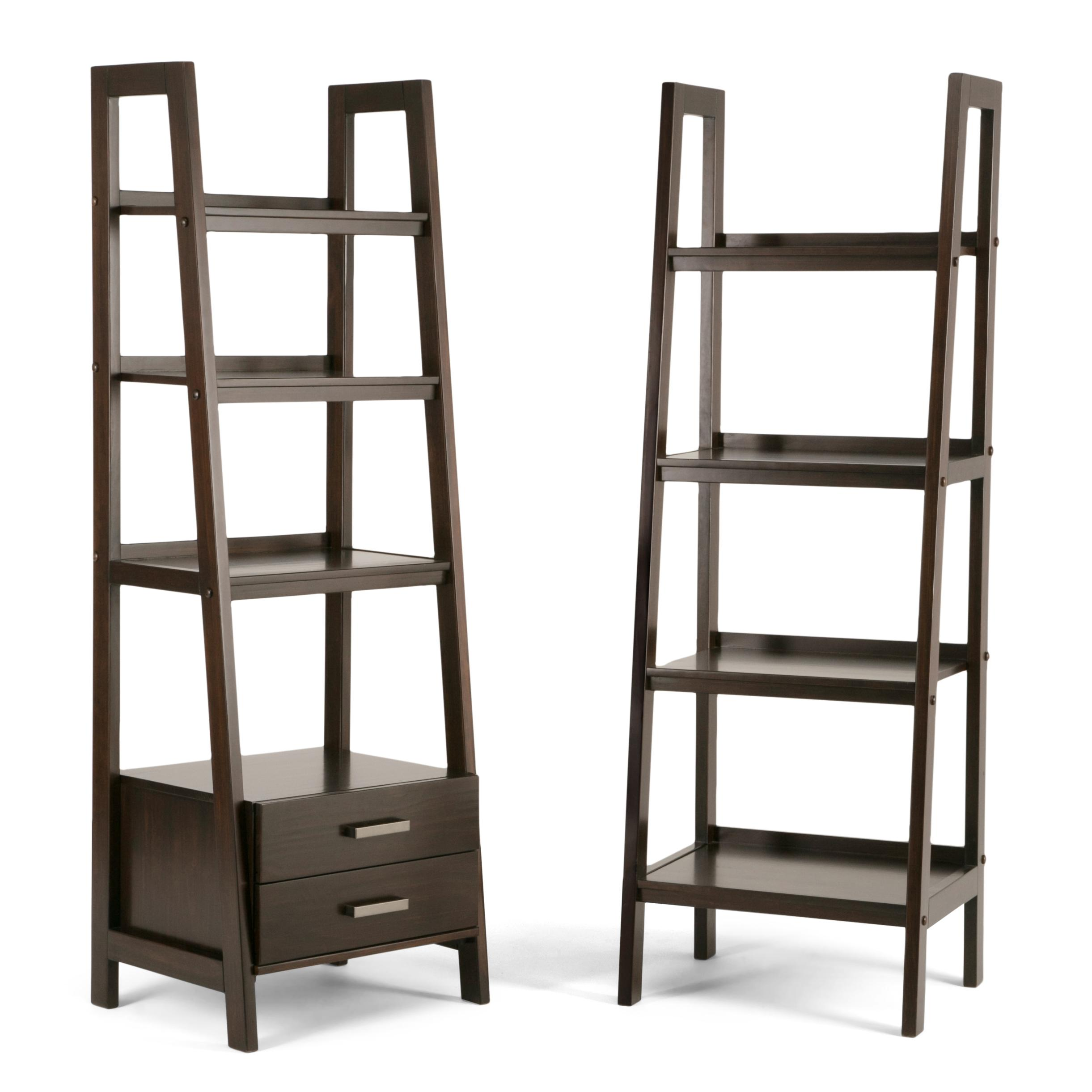 Kitchen Ladder Shelf: Amazon.com: Simpli Home 3AXCSAW-05-BR Sawhorse Solid Wood