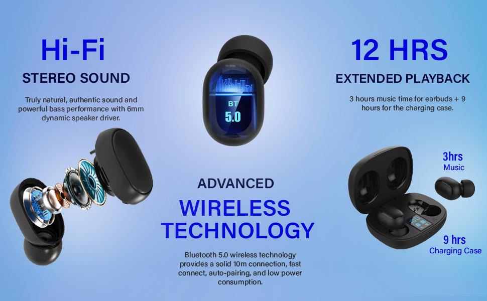 pTron Wireless Headphones