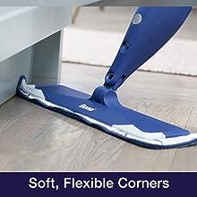 soft corners, bumper, won't damage furniture or baseboards