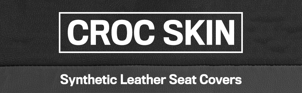 BDK auto accessories croc skin microfiber pu synthetic leather seat covers