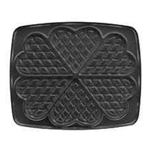 Non-stick gecoate wafelplaten in hartvorm