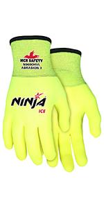 Memphis Glove N9680XL Ninja Flex Nylon Shell Gloves with ...