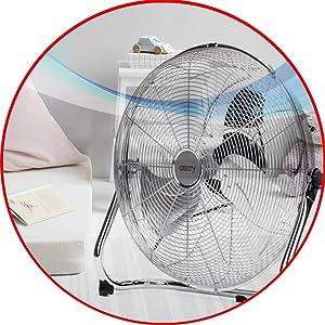 Camry CR 7306 Ventilador Industrial, Potente, 200W, 3 Velocidades ...