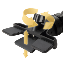 Versatile CD slot phone mount