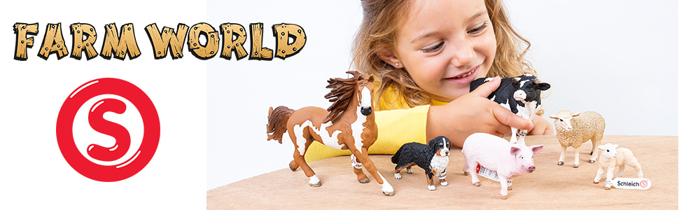 Schleich en Miniatura Cerdo madre y los lechones Farm Life Play Set-número de modelo 42422