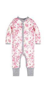 Burt's Bees baby organic cotton bodysuits sleepers sleep and play newborn girl boys unisex Pjs newbo