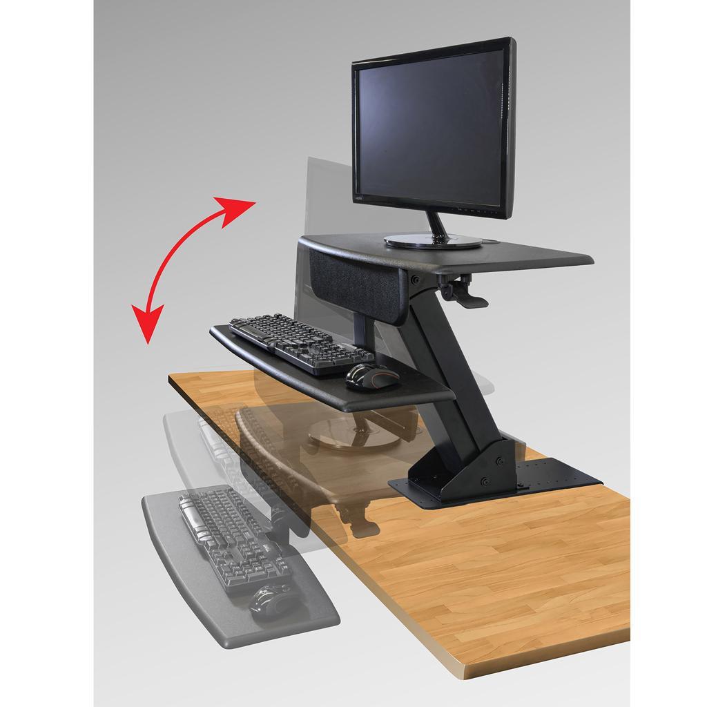 Kantek Desk Mounted Sit To Stand Workstation Sts800