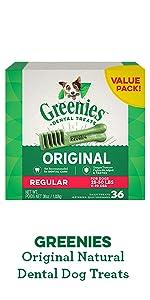 GREENIES original dental dog treats, dental chews, dental bones, value pack, greenies dog treats