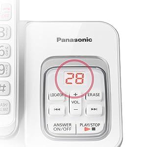 Panasonic KX-TGD533W message counter