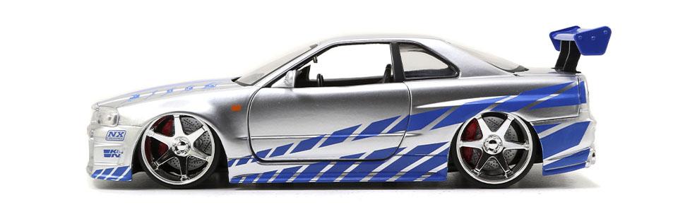 Jadatoys 253203044-1:24 Fast /& Furious 2002 Nissan Skyline Neu
