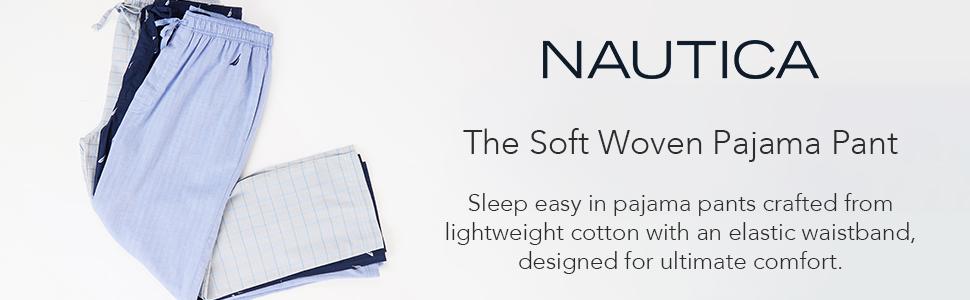 Nautica soft woven pajama pant men's sleepwear