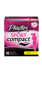 playtex sport compact tampon for women super regular absorbency U by Kotex Tampax tampons