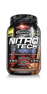 nitrotech, nitro tech, power, whey protein, whey protein powder