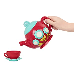 green toy tea set girl fisher price melissa doug kitchen play musical party gift toddler 3 4 year