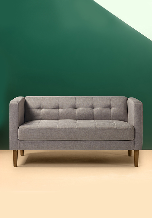 Zinus Lauren Loveseat Button Tufted Cushions Easy Tool Free Assembly Pear Green Furniture Decor