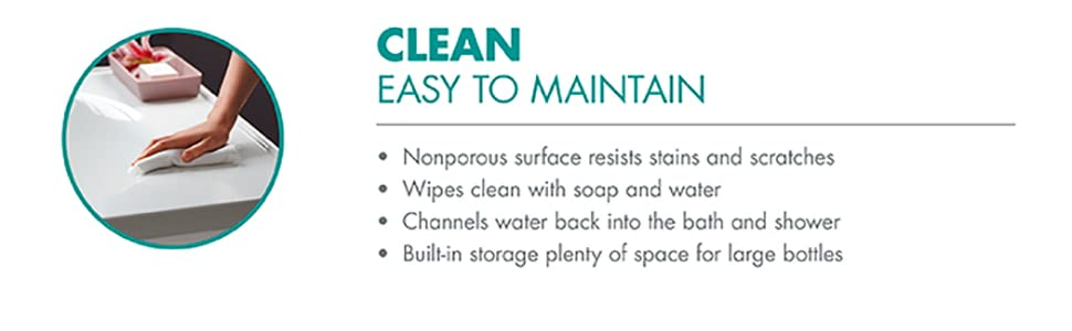 easy to clean, vikrell cleaner, sterling, vikrell, shower, clean surface, clean shower