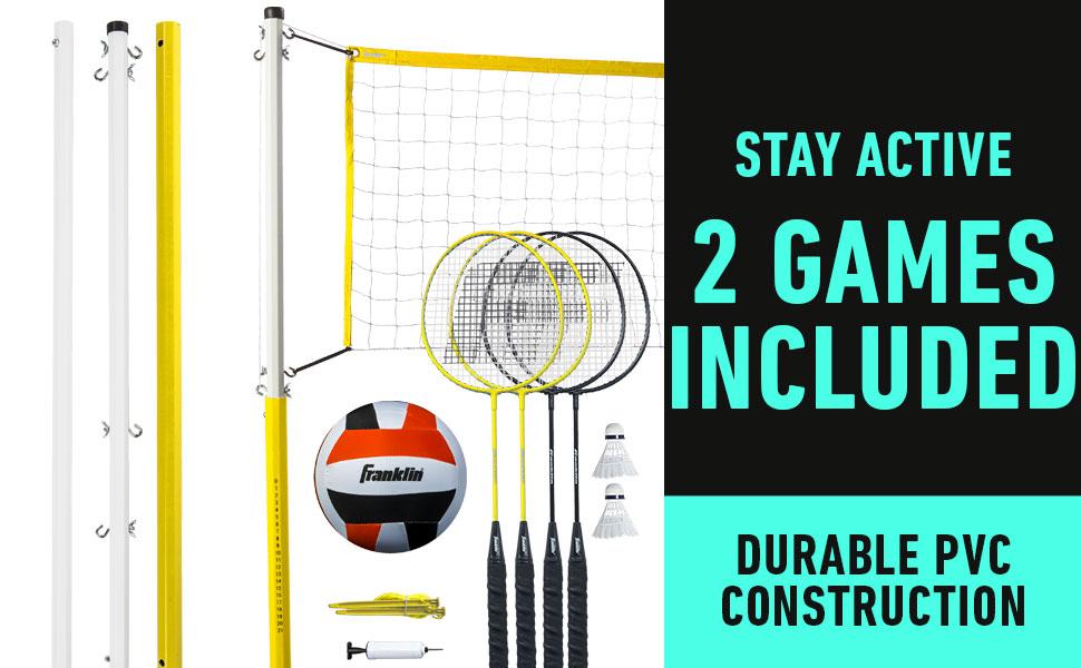 backyard volleyball net, badminton set, beach volleyball set, bolleyball set, franklin intermediate