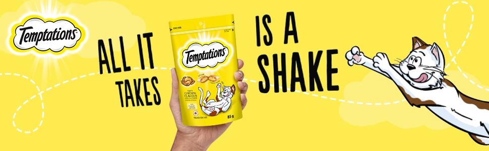 Temptations, cat treats, cat food, cat pouch, chicken cat treats