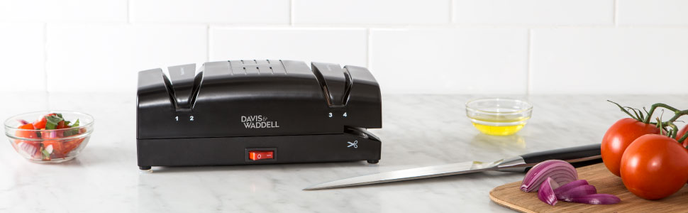 Davis & Waddell; kitchen; knife; sharpener; sharpening; kitchenware; knives; electric