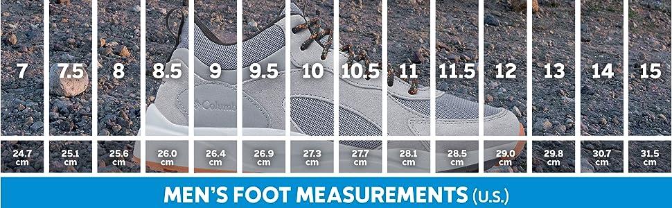 Men's shoe sizing