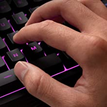 Quiet, responsive keys with anti-ghosting functionality