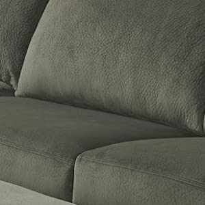Fine Signature Design By Ashley Jessa Place Sectional In Pewter Fabric Gmtry Best Dining Table And Chair Ideas Images Gmtryco