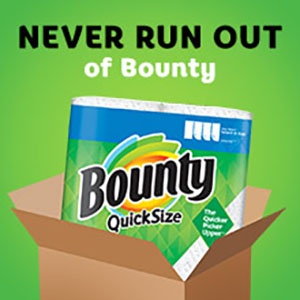 Never run out