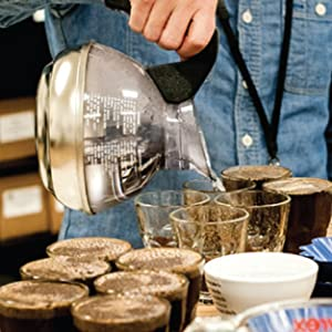 cupping, whole bean coffee