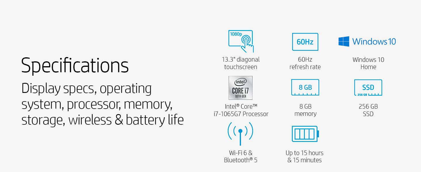 specifications specs 17.3 large big refresh rate 60 hertz hz windows 10 home intel core i7 10th gen