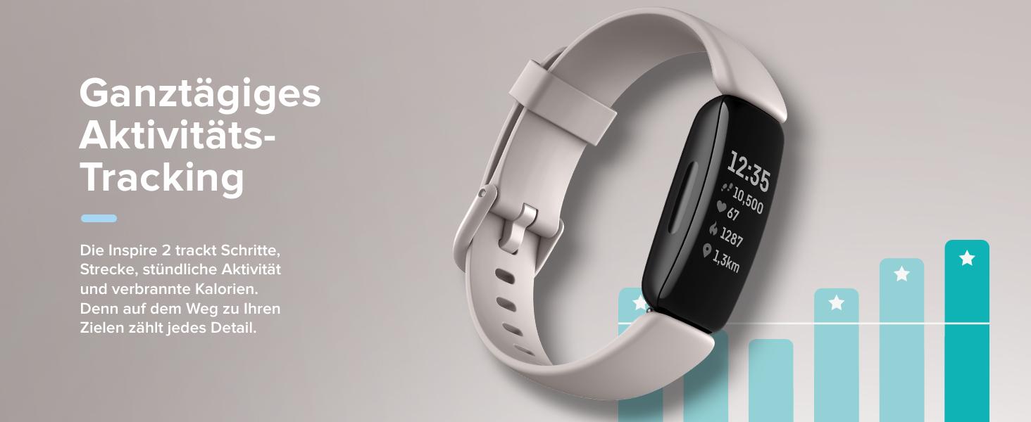 Fitbit Inspire 2 Gesundheits- & Fitness-Tracker mit einer