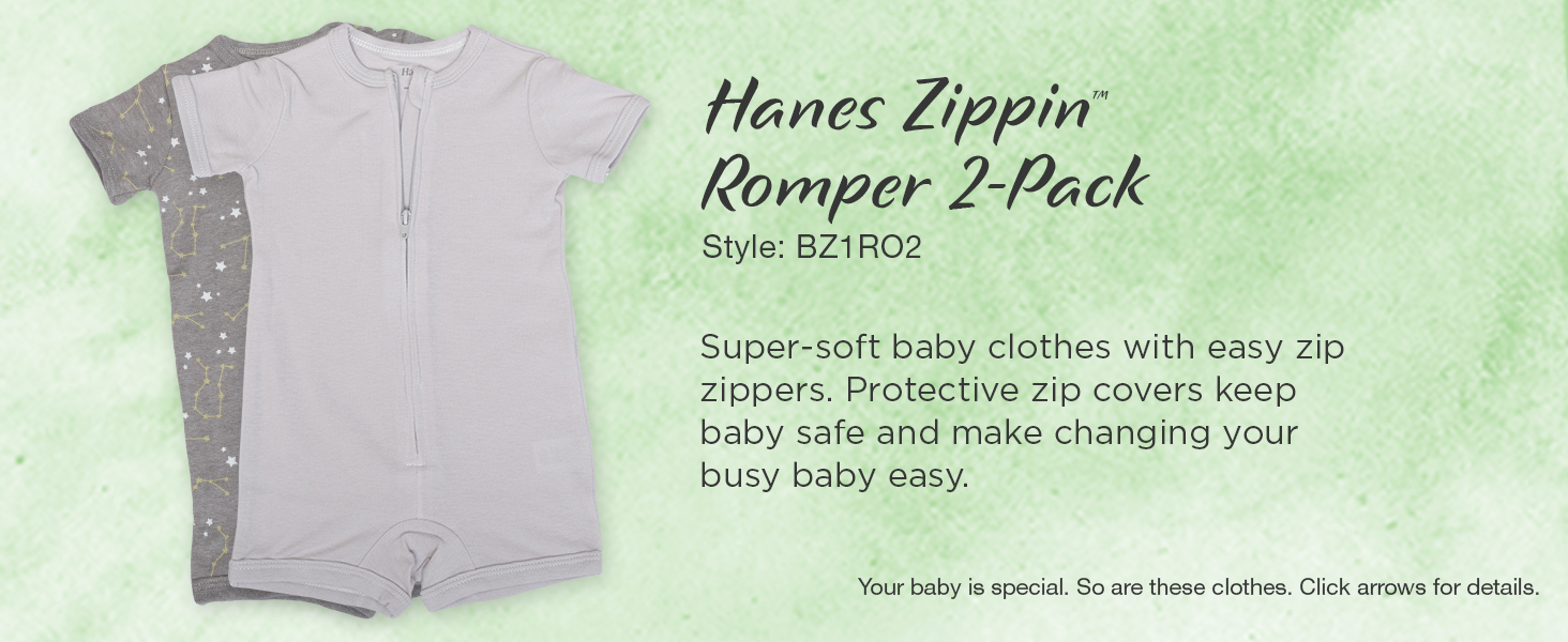 Amazon.com: Hanes Ultimate Baby Zippin 2 Pack Peleles: Clothing