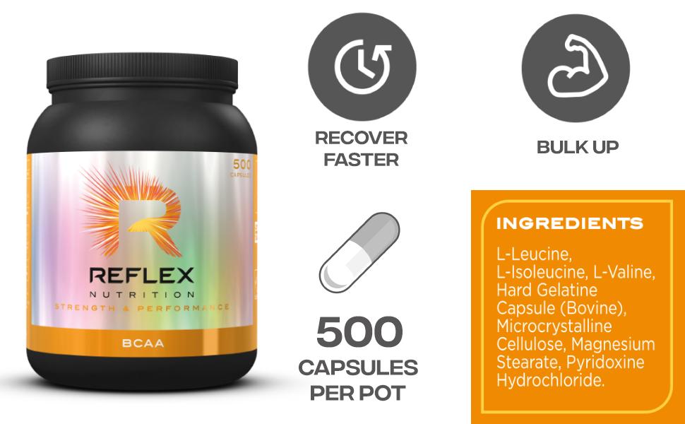 Reflex Nutrition BCAA 5 Standard - 480 Cápsulas: Amazon.es ...