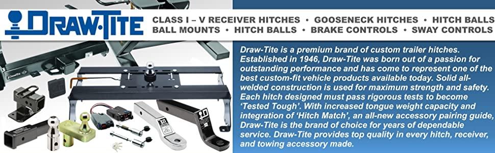 Draw-Tite Receiver Hitch Gooseneck Ball Balls Mount Mounts brake control sway towing trailer