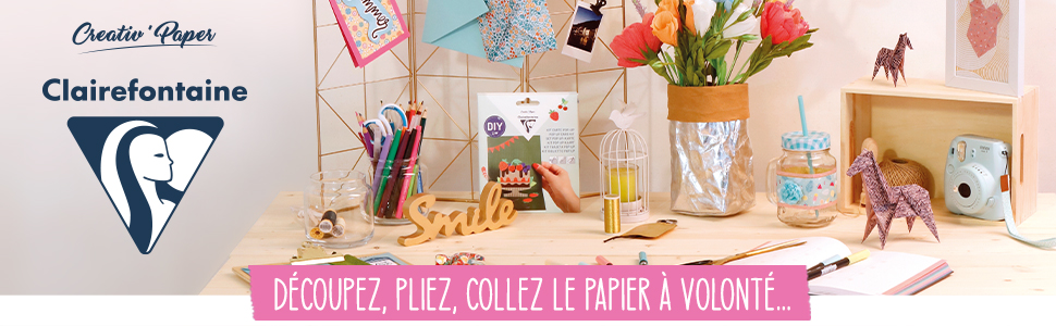 Gamme Loisirs Créatifs Creativ'Papers Clairefontaine