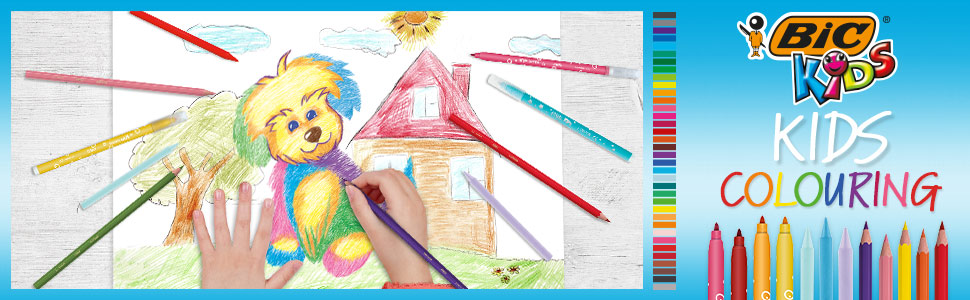 BIC Kids Colouring Felt Pens Markers for kids art activities and colouring