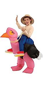 riding an ostrich costume