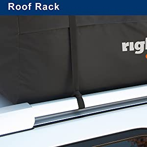 roof rack, vehicle rack, car top rack, carrier strap, strap loop, roof bag