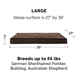 large; furhaven; dog; cat; pet; bed; traditional; step on; mattress; mat; pad