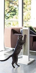 猫の爪とぎスタンド タワー ホワイト