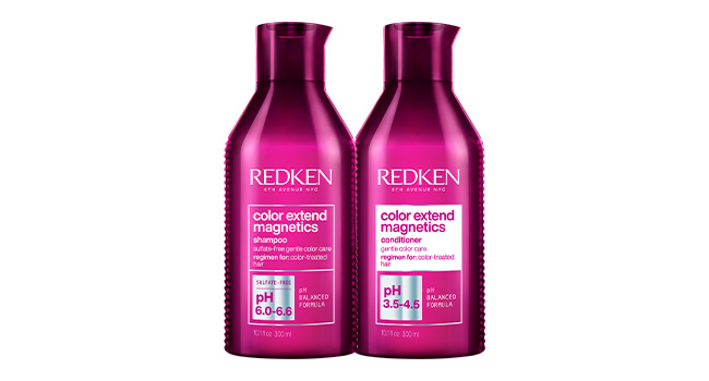 redken color extend magnetics shampoo conditioner color treated hair highlights balayage salon