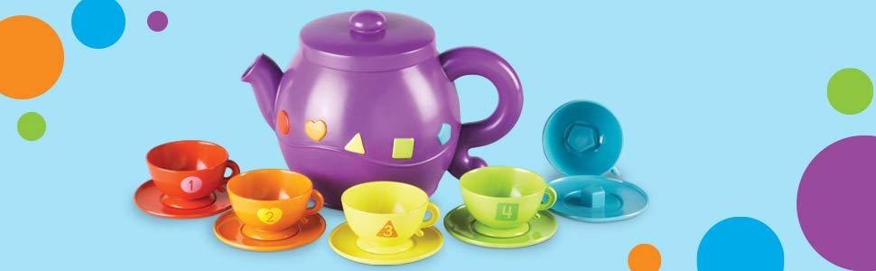 Learning Resources Serving Shapes Tea Set