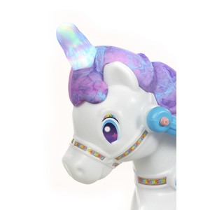 little tikes magical unicorn carriage;childrens ride on;kids unicorn ride on;horse and carriage