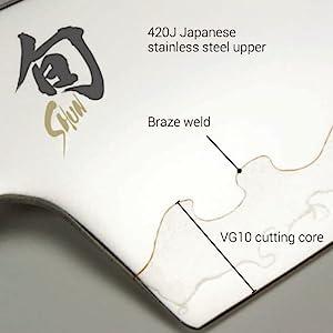 composite technology knife, shun composite knife